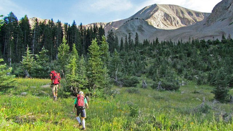 Hikers in La Sal Mountains