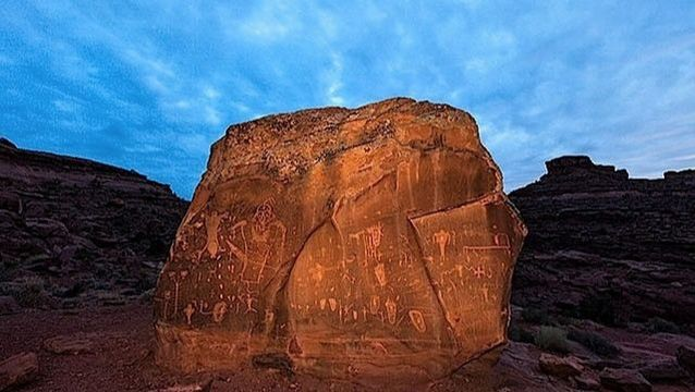 Indian rock art site in Moab